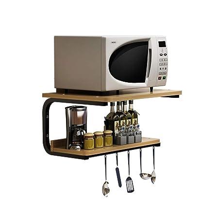 Rack de Cocina Horno de microondas Rack de Pared Horno de Cocina ...