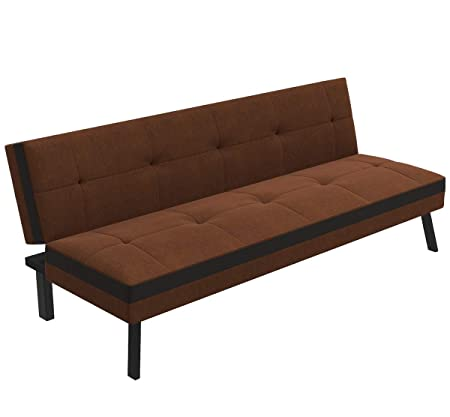 Forzza Bellini Sofa Cum Bed (Brown)
