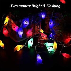 Calans Halloween String Lights, Halloween Light Decoration 11 Feet Ghost Light 30 LED String Lights Ghost Lantern Indoor Outdoor Halloween Parties Decorations Series