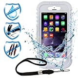 Waterproof Case for Iphone6/6S,High Quality Phone Case Cover Pectectly Protect the Phone with Shockproof Dustproof Snowproof (White)
