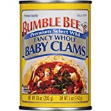 Bumble Bee Whole Baby Clams, 10-Ounce Cans (Pack of 12)
