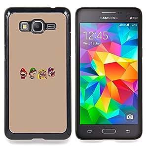 """Mario Personajes"""" - Metal de aluminio y de plástico duro Caja del teléfono - Negro - Samsung Galaxy Grand Prime G530F G530FZ G530Y G530H G530FZ/DS"""