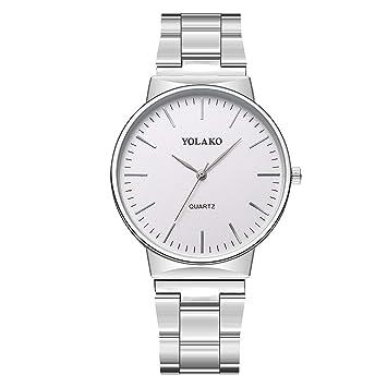 Longra Relojes Relojes Minimalista analógico 40MM Stylish Men | Acero Inoxidable: Amazon.es: Deportes y aire libre