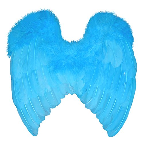 Blue Macaw Bird Costume (FashionWings (TM) Blue Classic Style Baby Size Costume Feather Angel Wings)