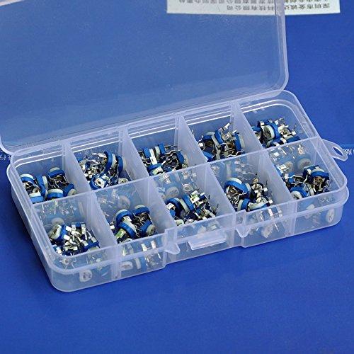 Electronics-Salon 100 to 1M ohm Single-Turn Trimming Potentiometer Kit