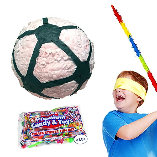 Pinatas Deluxe Soccer Ball Party Kit Including, Buster Stick, Bandana and Candy Filler by Pinatas