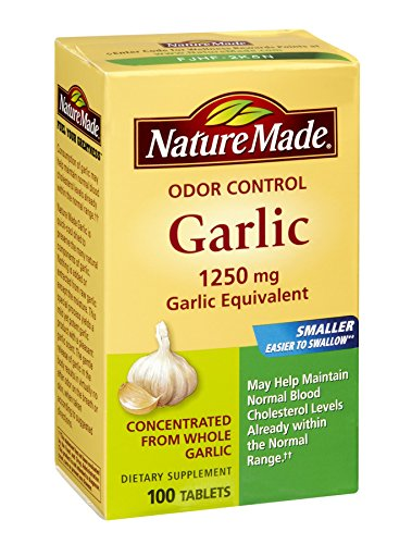 Nature Made Nat Made Garlic Odrls 1250 Mg 100 Tb, Pack of 3 ()