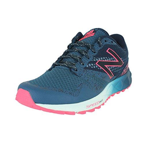 New Balance Women's WT690V1 Trail Shoe, Teal/Pink, Size 9 D US