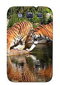 New Arrival Tiger Couple For Galaxy S3 Case Cover Pattern For Gifts