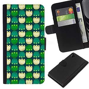 WINCASE (No Para Z2 Compact) Cuadro Funda Voltear Cuero Ranura Tarjetas TPU Carcasas Protectora Cover Case Para Sony Xperia Z2 D6502 - patas pc juego modelo verde