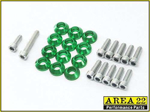 Bolt Fairing Pro Kit (Area 22 Kawasaki Z125 Pro Fairing Dress Up Bolts GREEN)