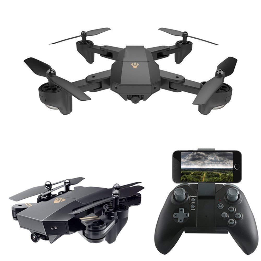 WANGTAO WiFi FPV UAV Pieghevole Quadcopter RC con Fotocamera 30W   200W Obiettivo Grandangolare 2.4 GHz Giroscopio A 6 Assi può Regolare Il Percorso di Volo Funzione Senza Testa Halloween Natale