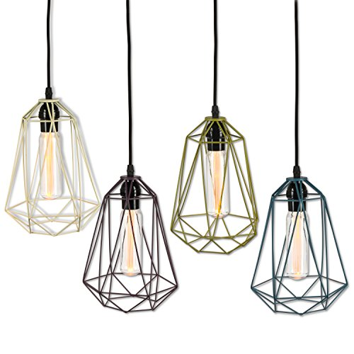 Lone Elm 25,4cm H Tubo de lámpara colgante H, 7Inl X 6,4INW X 11,5Inh, 4pieza