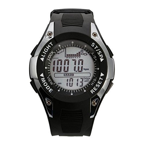 SunRoad FX702A2 Men Wristwatch Fishing Sports Watch -Barometer Altimeter Thermometer Digital Sport Clock Silver by SUNROAD