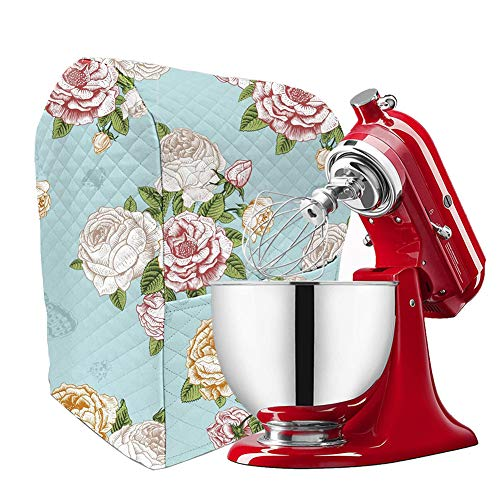 Kitchen Aid Stand Mixer Cover with Pockets, 5-7 Quart Mixer Dust Cover Compatible with Kitchenaid Mixers, Hamilton Mixers, Fits All Tilt Head & Bowl Lift Models TFC362 (Kitchenaid Mixer Covers 5 Quart)