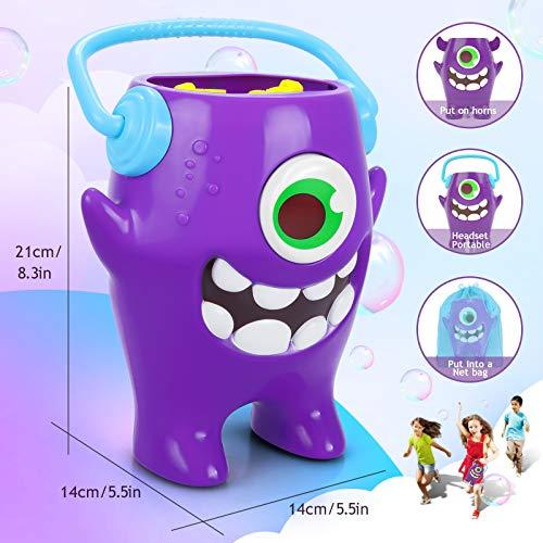 Peradix Automatico Máquina Burbujas, Máquina de Burbujas Portátil, Alimentado por Batería o Cable USB Máquina de Hacer Burbujas, para Bodas, Cumpleaños Infantiles y Escenarios Navidad