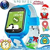 [SIM Card Included] IP68 Waterproof Kids Phone Smart Watch GPS Fitness Tracker Watch