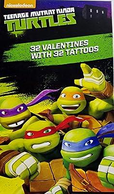 Teenage Mutant Ninja Turtles TMNT 32 Valentines With 32 Tattoos