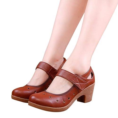 e81a9d54 Las Mujeres Suelas Blandas Zapatos de Baile Zapatos Transpirables Modernos  Modernos Sandalias de tacón Alto: Amazon.es: Zapatos y complementos