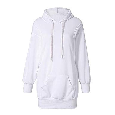 Hibote Sweats à Capuche Femme, Hoodie Sport Sweat-Shirts Robe Pull Fille Sweat  Capuche f721d31ce7c0