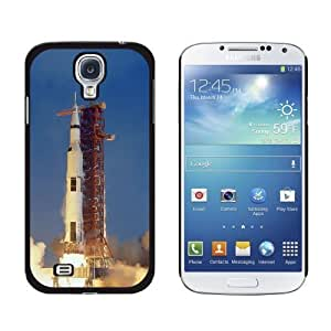 Apollo 11 Launch - USA Space Program - Snap On Hard Protective Case for Samsung Galaxy S4 - Non-Retail Packaging - Black