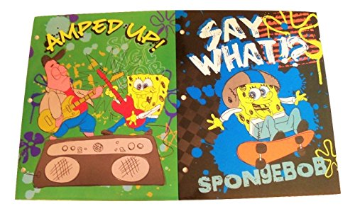 Spongebob Squarepants Fun Pocket - Spongebob Squarepants Folder 2 Pack ~ Amped Up and Say What?