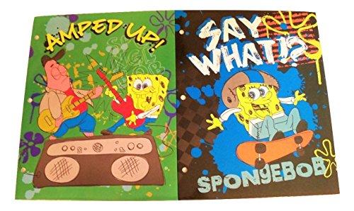 Pocket Squarepants Spongebob Fun - Tri-coastal Design Spongebob Squarepants Folder 2 Pack ~ Amped Up and Say What?