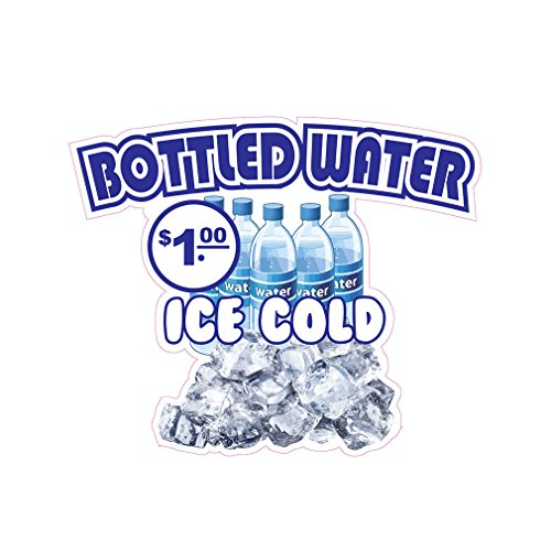 Bottles Water Concession Restaurant Food Truck Die-Cut Vinyl Sticker 10 inches ()