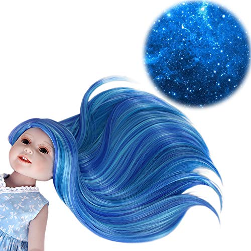 STfantasy Doll Wig for 18 Inches American Girl Doll AG OG Journey Girls Gotz My Life Ombre Blue 2 Tone Straight Synthetic Hair Girls Gift]()