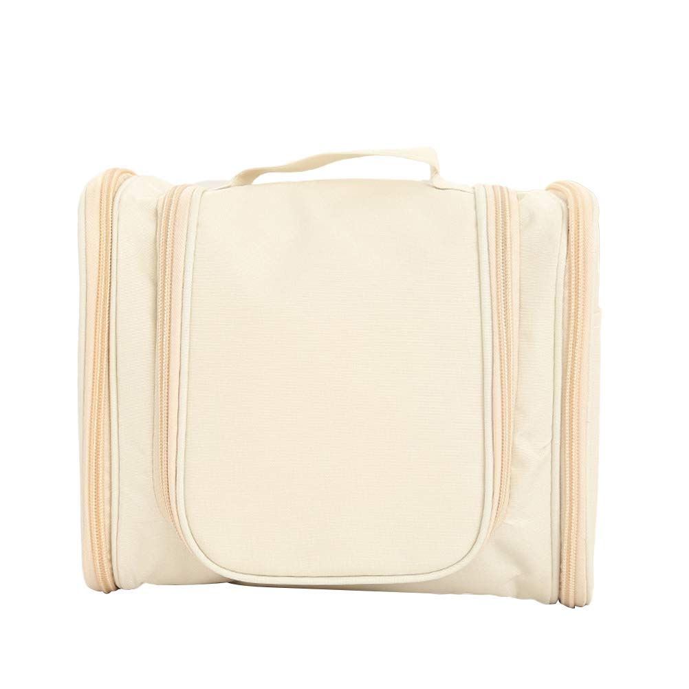 Blanc cr/ème OUNONA /à Suspendre Organiseur de Toilette Portable Cosm/étique Sac /étanche Voyage Maquillage Pochette pour Femmes Filles