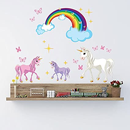 Unicorn set wall decal by style apply highest quality wall print decal sticker