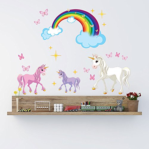 Style & Apply Unicorn Set Wall Decal by highest quality ...