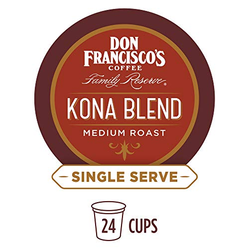 - Don Francisco's Kona Blend (24 Pods) Medium Roast, Single Cup Coffee Pods, Compatible with Keurig K-Cup Machines