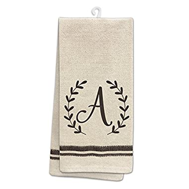 Occasionally Made 25  x 19  Monogram A Kitchen Towel