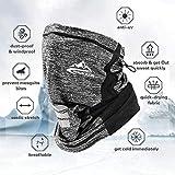 Bandana Neck Gaiter Shield Face Scarf Bandanas Mask Windproof for Men & Women Light Grey
