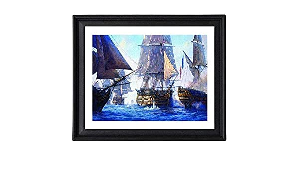 SAILING SHIP POSTER Battle of Trafalgar T Buttersworth