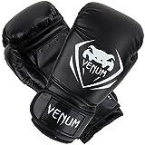 Venum Contender Boxing Gloves, Black, 12-Ounce