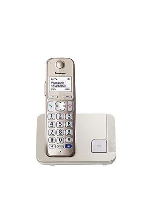 Panasonic KX-TGE210 - Teléfono fijo inalámbrico (LCD grande, teclas grandes, agenda de 100 números, bloqueo de llamadas, modo ECO, compatible con ...
