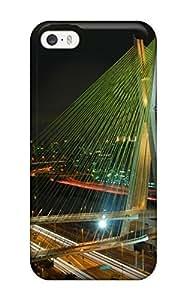 For Iphone 5/5s Premium Tpu Case Cover Octavio Frias De Oliveira Bridge Protective Case by lolosakes