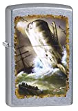 Zippo Lighter: Mazzi Whale and Ships - Street Chrome 78438