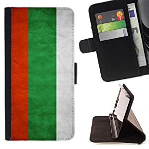 Momo Phone Case / Flip Funda de Cuero Case Cover - Nacional bandera de la nación País Bulgaria; - Samsung Galaxy S6 Active G890A
