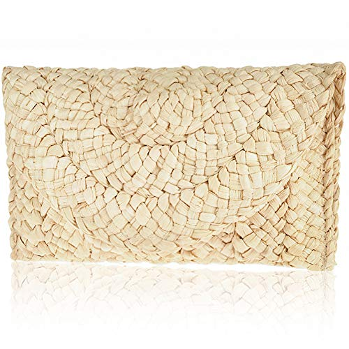 Straw Clutch Handbag, Xmeng Women Straw woven Purse Envelope Bag Wallet Summer Beach Bag for Ladies