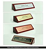 Engravers Central Personalized Wooden Executive Business Office Desk Name Plate - Rosewood Piano Finish - CUSTOMIZE - (2x8)