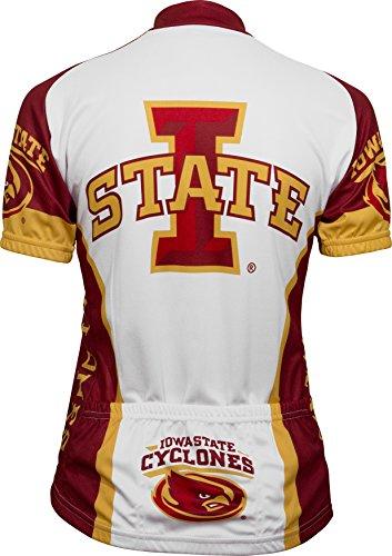 (Adrenaline Promotions NCAA Iowa State University Women's Cycling Jersey, Large, White/Red)