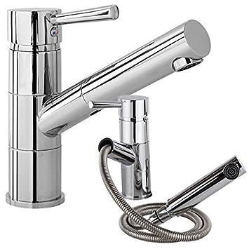 w106 niederdruckarmatur mit brause einhand spültisch kÜchen + bad ... - Armatur Küche Ausziehbar