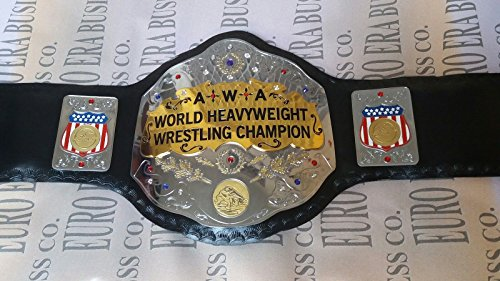 New Replica AWA Championship Belt Adult Size Metal Plates by Euro Era Replica