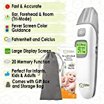 Baby Thermometer - Forehead and Ear Thermometer for Fever by DrKea - Accurate Dual Mode Professional Medical Body Fever Thermometers for Baby, Kid and Adult | Clinical Thermometer