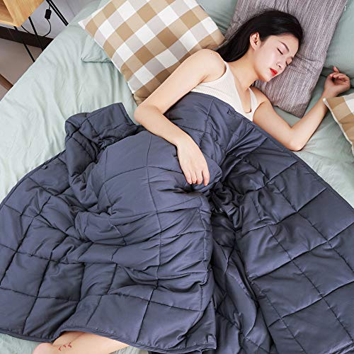 Cheap bedee Weighted Blanket 15 lb for Adults Cooling Heavy Blanket with Natural Cotton (48 x72 ) Black Friday & Cyber Monday 2019