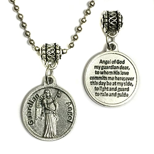 Guardian Angel Protect Protection Medal Pendant Charm with Prayer 24