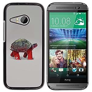 LECELL -- Funda protectora / Cubierta / Piel For HTC ONE MINI 2 / M8 MINI -- Funny Turtle Tortoise --